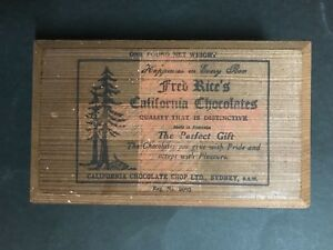 Details About California Chocolates Vintage 1950s Wooden Box Sydney Nsw