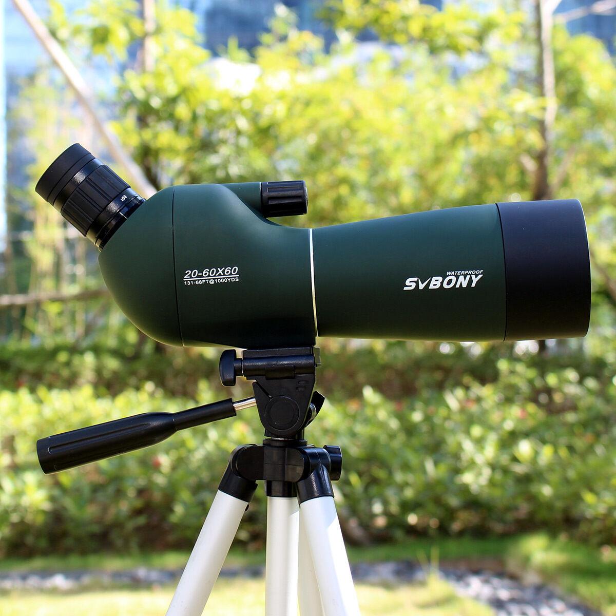 SVBONY 20-60x60mm Angled Spotting Scope Zoom Monocular Birdwatch Telescope IP65