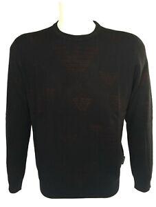 EMPORIO-ARMANI-maglione-uomo-blu-in-misto-lana-con-loghi-a-contrasto-sconto-50