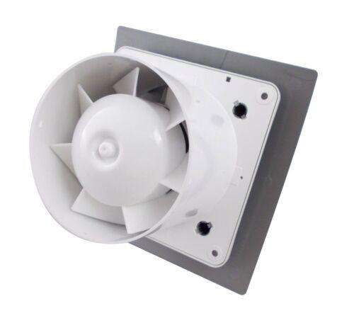 """Estrattore Bagno Ventilatore 100mm//4/"""" Doccia Ventilatore moderno ni-100 finitura cromata"""