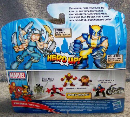 SUPER HERO SQUAD 2009 MARVEL WOLVERINE /& SPIRAL SET