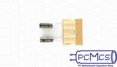 20 Pcs Nichicon HE 50V 10UF Extremely Low Impedance High Reliability Capacitor