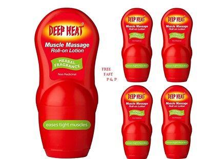 GemäßIgt Deep Heat Muscle Relief Roll On Lotion Heat Pain Dual Action Massage Therapy Uk Erfrischend Und Wohltuend FüR Die Augen
