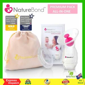 NatureBond-Silicone-Manual-Breast-Pump-Breastfeeding-Milk-Saver-Suction-BPA-Free