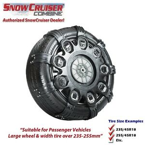 snow chain snowcruiser combine xl replaces spikes spider sport xl ebay. Black Bedroom Furniture Sets. Home Design Ideas