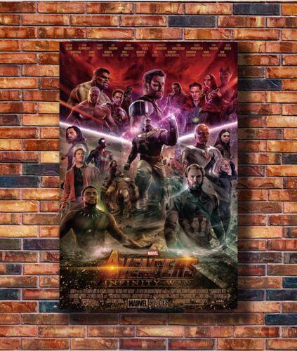 Hot Fabric Poster Avengers Infinity War DC Marvel Movie Iron Man 40x27inch Z469