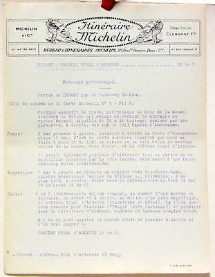 1925 ITINERAIRE MICHELIN DINANT CHATEAU ROYAL D'ARDENNE CARTE BIBENDUM | eBay