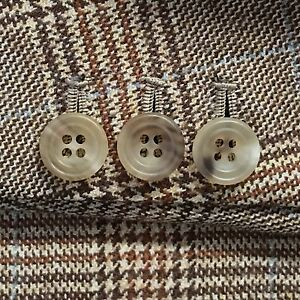 Saville Row Natural Horn Sport Coat / Blazer Bespoke Buttons Light Matte