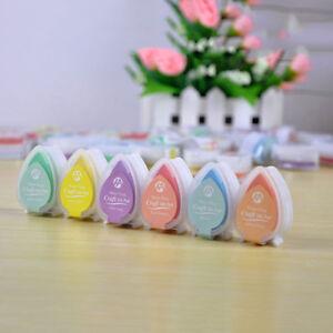 6-Stueck-Menge-Wassertropfen-Perle-Form-Farbe-Stempelkissen-Mini-Schwamm-DI-J1