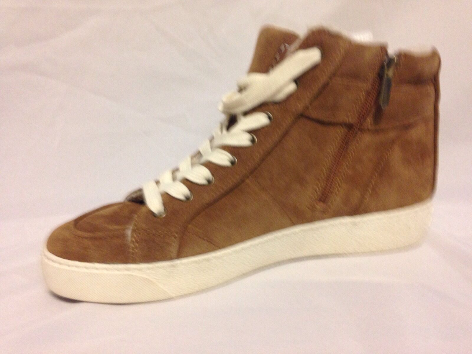 Sam Edelman Britt High Top Sneaker Mocha Suede Suede Suede D8071L1200 New with Box fa6321