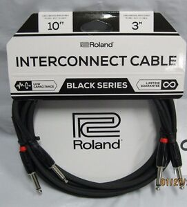 Roland Black Series Interconnect Cable Dual 1//4-Inch to 1//4-Inch 10-Feet