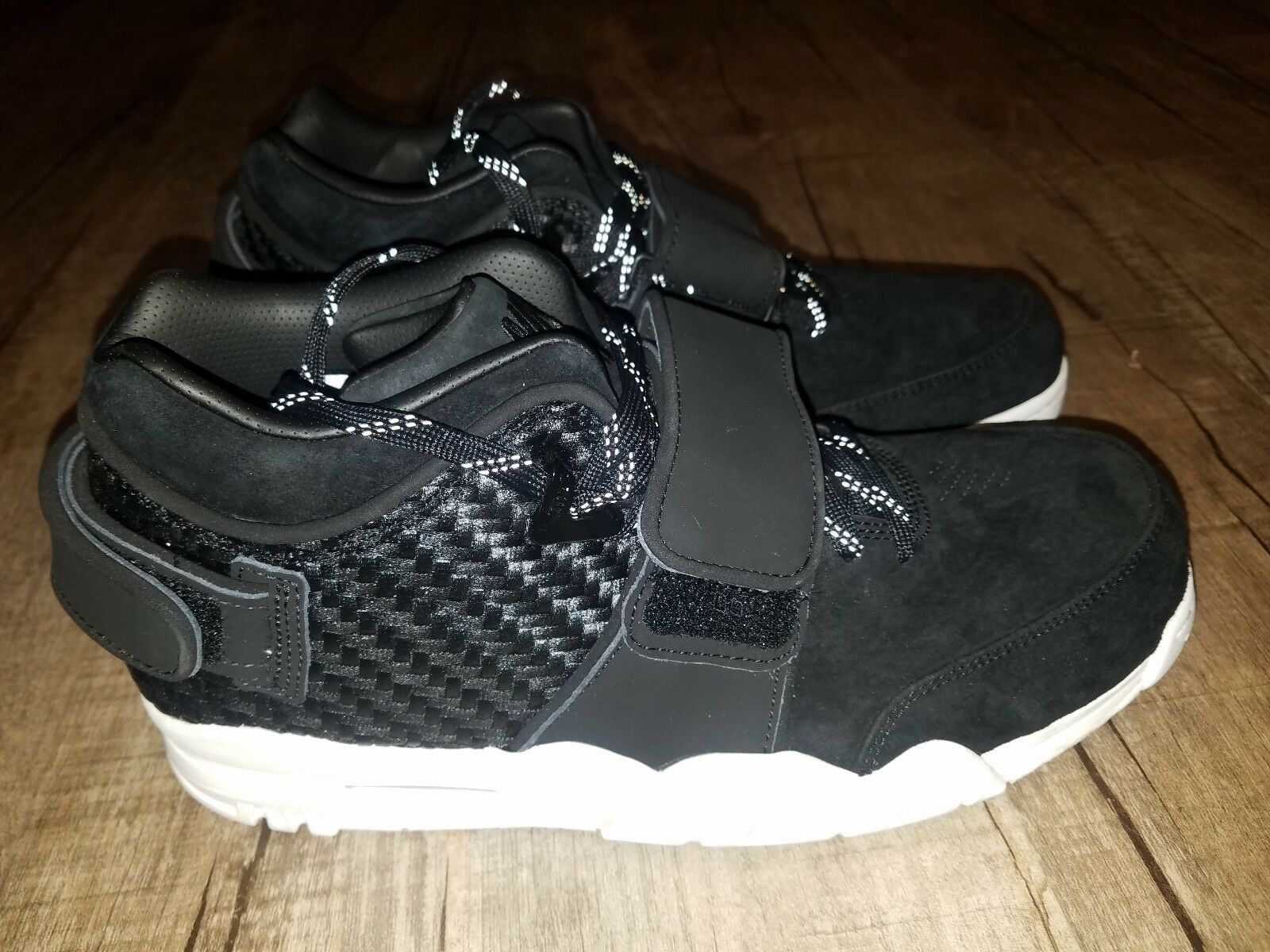 NIKE AIR TRAINER VICTOR CRUZ 11 SHOES BLACK MENS Sz 11 CRUZ NEW 777535-004 LEATHER SUEDE 78bed3