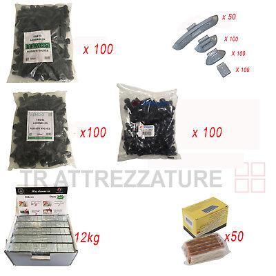 valvole tr413 tr414 tr412 pesi adesivi pesi a molla  cordoni marroni