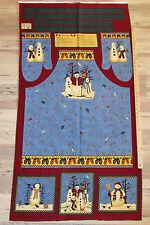 "Snowman Debbie Mumm Christmas Fabric APRON Panel 29""   #18018"