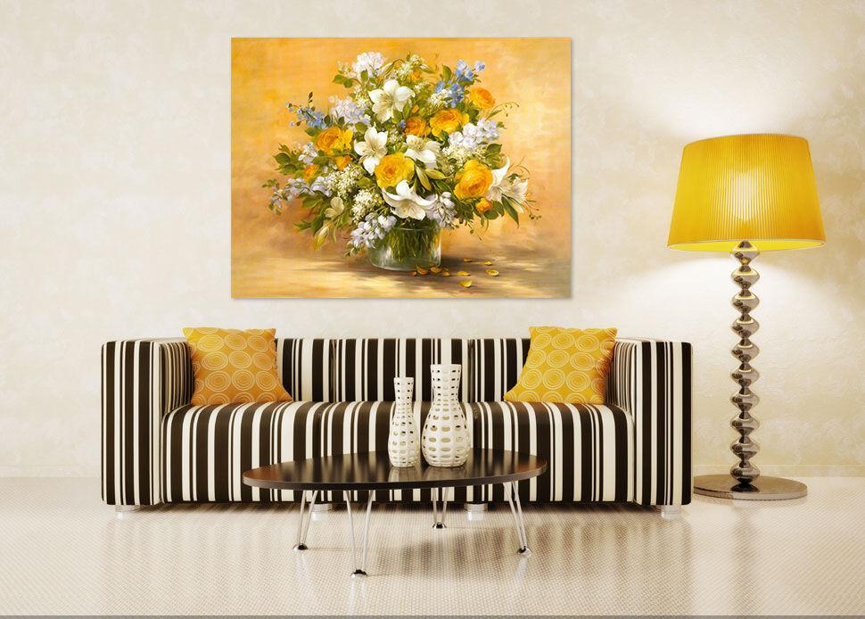 3D Flowers 411 Wall Stickers Vinyl Murals Wall Print Decal AJSTORE UK Lemon