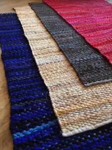 Commerce-Equitable-Main-Loom-epais-coton-90-cm-x-150-cm-Rag-Rug-Rouge-Bleu-Gris-Beige