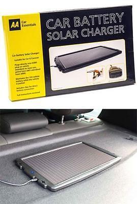 AA Solar Panel Battery Charger 12v Car Trickle Charge Caravan Motorhome Van