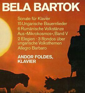 Bela-Bartok-Piano-Pieces-Andor-Foldes-Sonata-Bauernlieder-Dances-12-034-LP-L5788