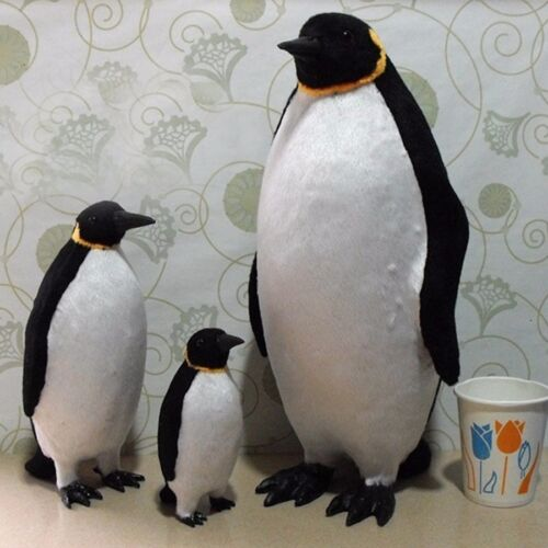 1 X Fake Artificial Penguin Faux Fur Realistic Taxidermy Home Garden Decor Toy