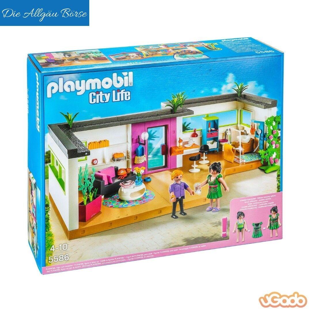 Playmobil 5556 Gästebungalow City Life Villa 5574 Anbau Urlaub selten Neu OVP