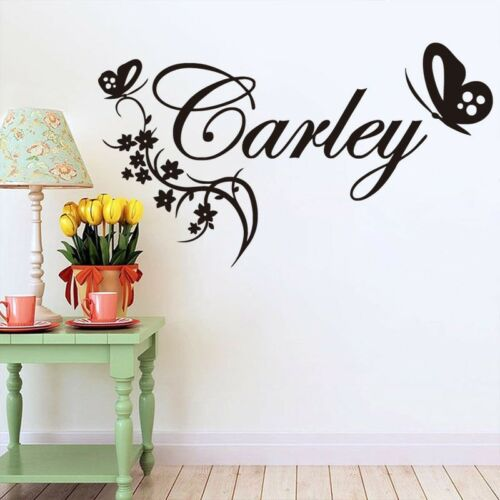 Butterflies wall sticker Personalised any name girls wall art AFC4 DECAL DECOR