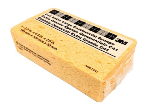 "24 Pk 3M Extra Large Commercial Gold Cellulose Sponge 7.5/"" x 4.3/"" x 2/"" 7456T C41"
