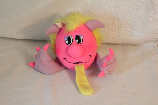 Razzcals Vintage 1986 Matchbox Toys Pink Monster Plush Toy Doll