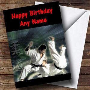 Judo martial arts personalised birthday greetings card ebay image is loading judo martial arts personalised birthday greetings card m4hsunfo