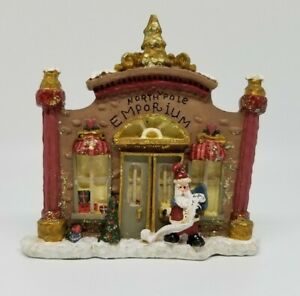 Vintage-Kurt-Adler-snowtown-north-pole-emporium-christmas-tree-ornament-SIGNED