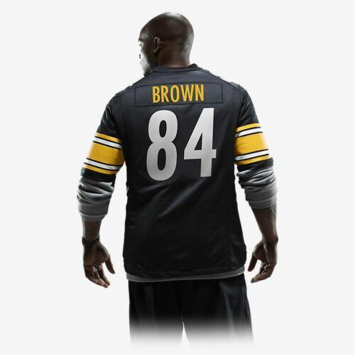 Antonio Brown on field NFL Pittsburg Steelers Game Jersey - adult M