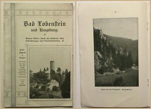 Orig-Prospekt-Bad-Lobenstein-um-1900-Reise-Ortskunde-Geografie-Geographie-sf