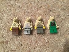 Lego Star Wars Jar Jar Binks & Gungan Soldier Minifigure Lot Of 4