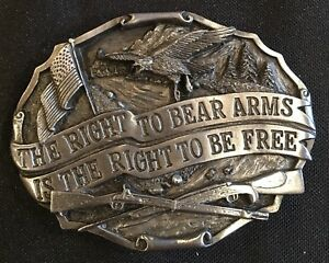 RIGHT TO BEAR ARMS BELT BUCKLE NEW
