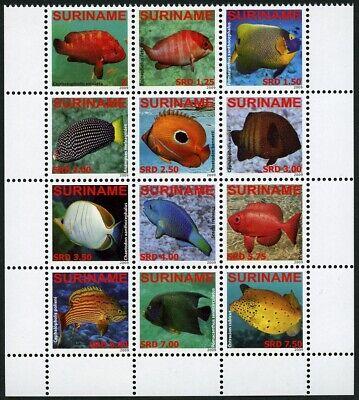 Suriname Stamps Hearty Surinam 2009 Fische Vissen Fishes Barsche Brassen 2291-2302 Postfrisch Mnh