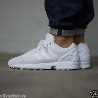 adidas Originals Mens ZX Flux Trainers White sizes 12-17