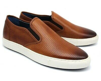 C15 UK 8 NEW MENS BROWN REAL LEATHER