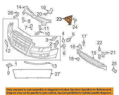 AUDI OEM 05-10 A6 Quattro Front Bumper Grille Grill-Guide Right 4F0807228