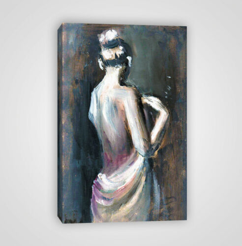 Woman Figure Illustration Poster Framed Canvas Print YC29