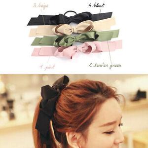 Double-Bow-Accessories-Rope-Girl-Hair-Hair-Ties-Hair-Elastic-Ribbon-Band-6Pcs