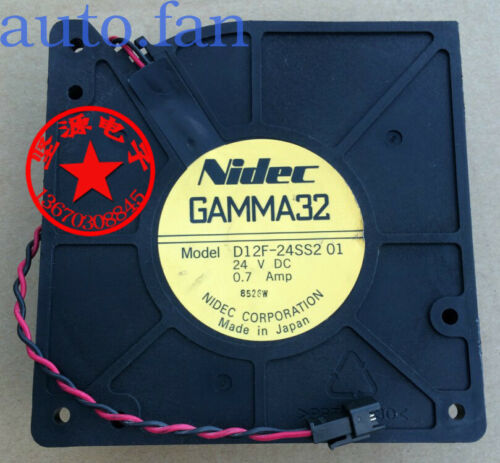 For NIDEC GAMMA32 D12F-24SS2 01 24V 0.7A elevator inverter fan 12032