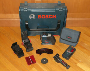 Bosch GLL3-80 Red 3-Plane Laser Level, LR2 Receiver, Brackets & Sortimo Case
