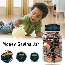 18l Electronic Digital Lcd Us Coin Counter Counting Jar Money Saving Piggy Bank