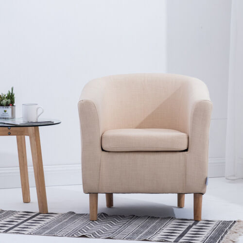 Reception Tub Chair Padded Accent Armchair Sofa Living Room Bedroom Cafe Sofa UK