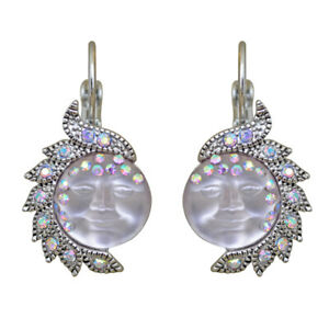 Kirks-Folly-Seaview-Moon-Goddess-In-Wonderland-Leverback-Earrings-Silvertone
