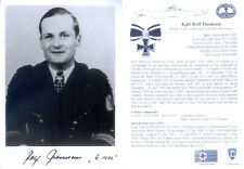 UB6 U-boat Captain THOMSEN KC hand signed photograph