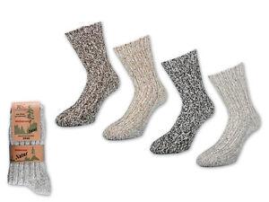 2-bis-10-Paar-Woll-Socken-Damen-amp-Herren-Natursocken-Winter-socken