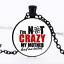 Je suis Nerds Crazy Photo dôme en verre noir chaîne collier pendentif Commerce de Gros