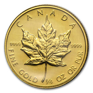 1989-Canada-1-4-oz-Gold-Maple-Leaf-BU-SKU-86880