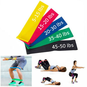 Resistance-Bands-Tube-Workout-Exercise-Elastic-Band-Fitness-Equipment-Yoga-US