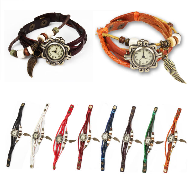 Women's Fashion Ladies Wrist Watch Bohemian Style Handmade Retro Jewelry Gift
